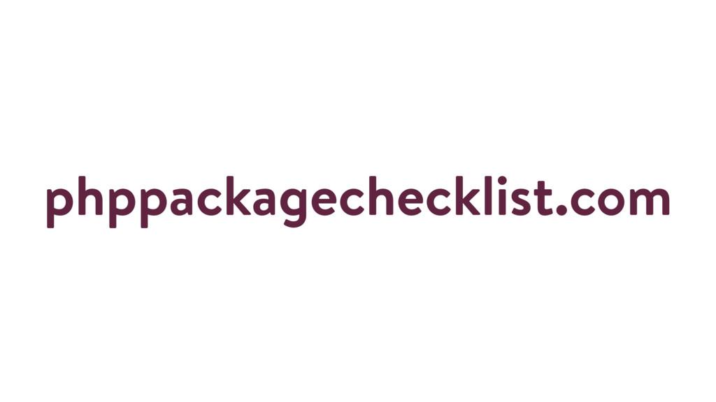 phppackagechecklist.com