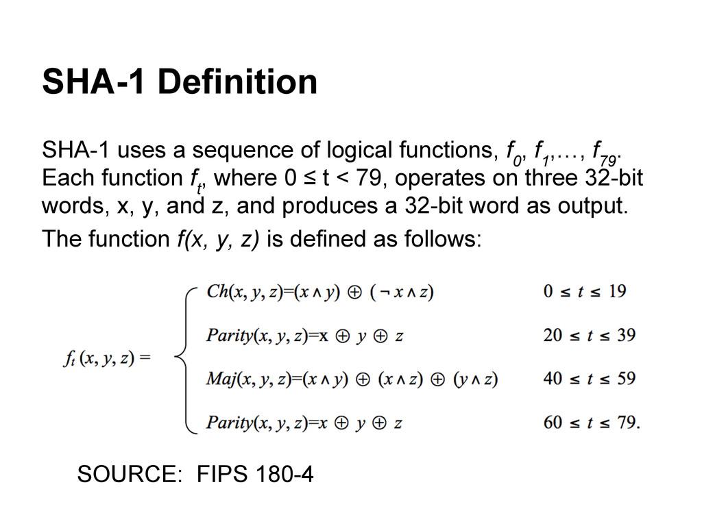 SHA-1 Definition SHA-1 uses a sequence of logic...
