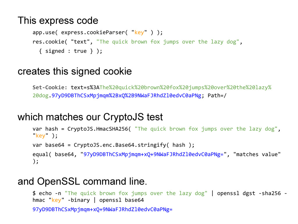 This express code app.use( express.cookieParser...