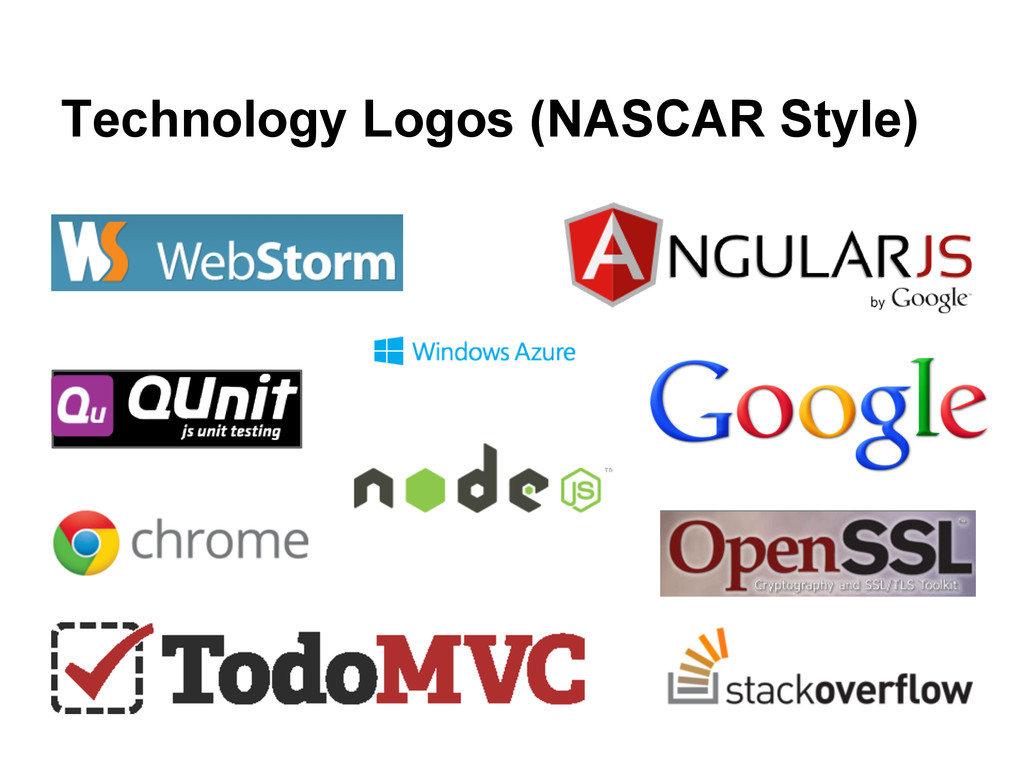 Technology Logos (NASCAR Style)
