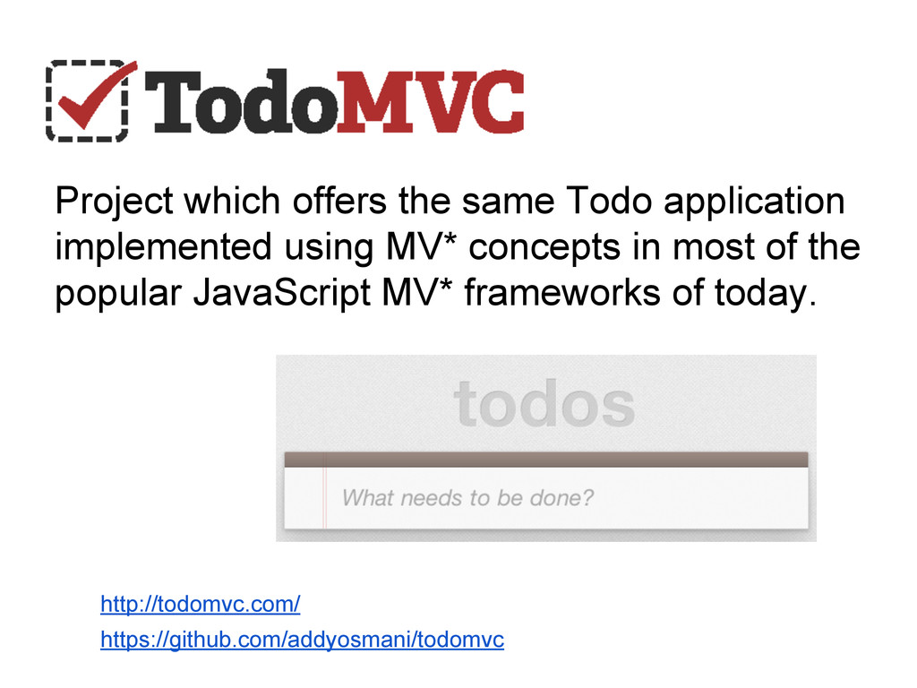 Project which offers the same Todo application ...