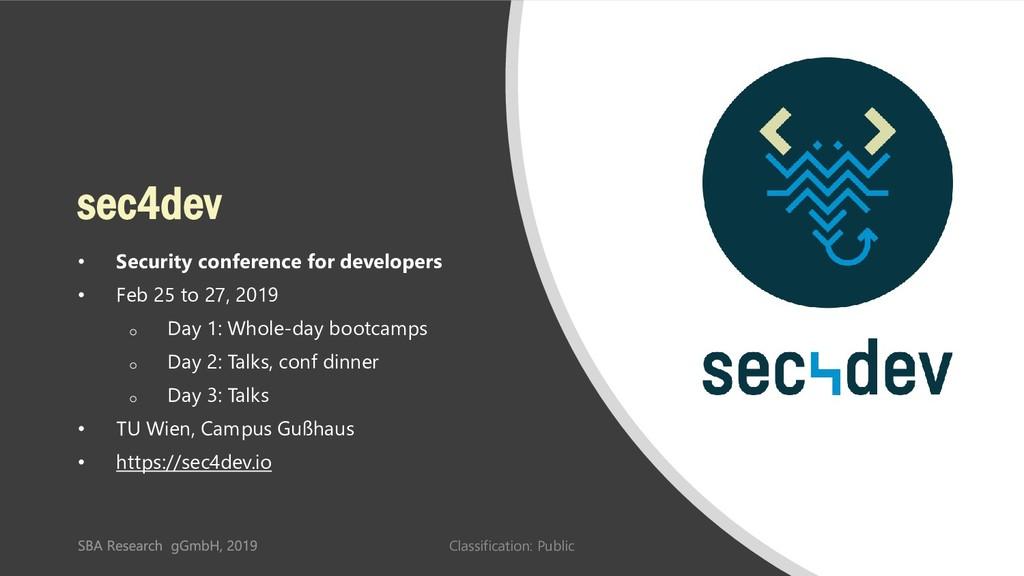 Classification: Public 51 sec4dev • Security co...
