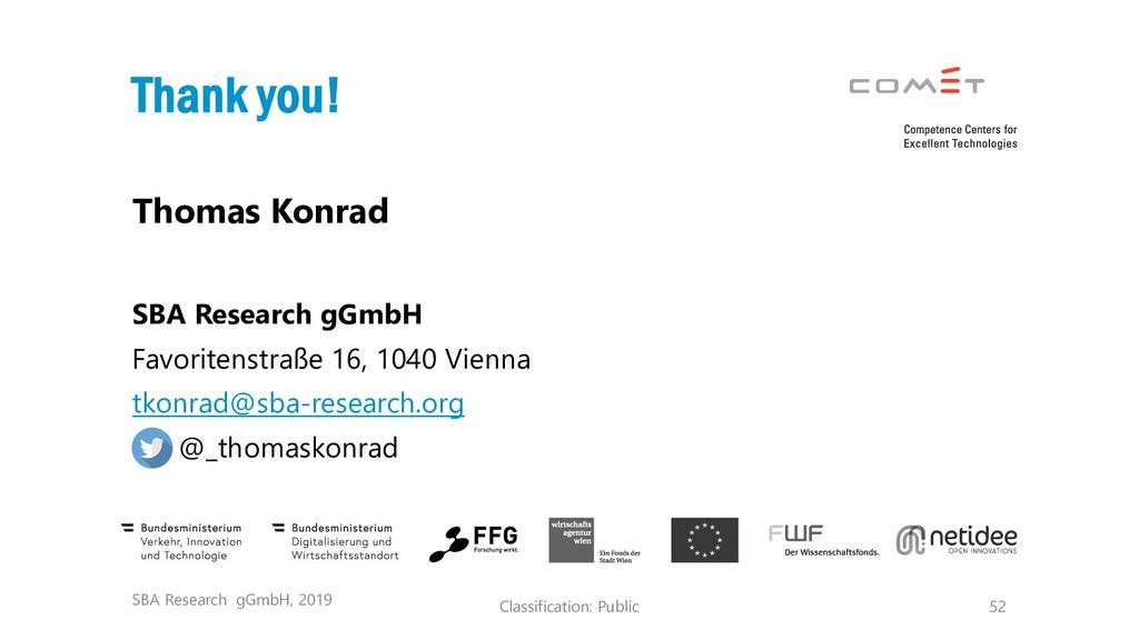 Classification: Public 52 Thomas Konrad SBA Res...