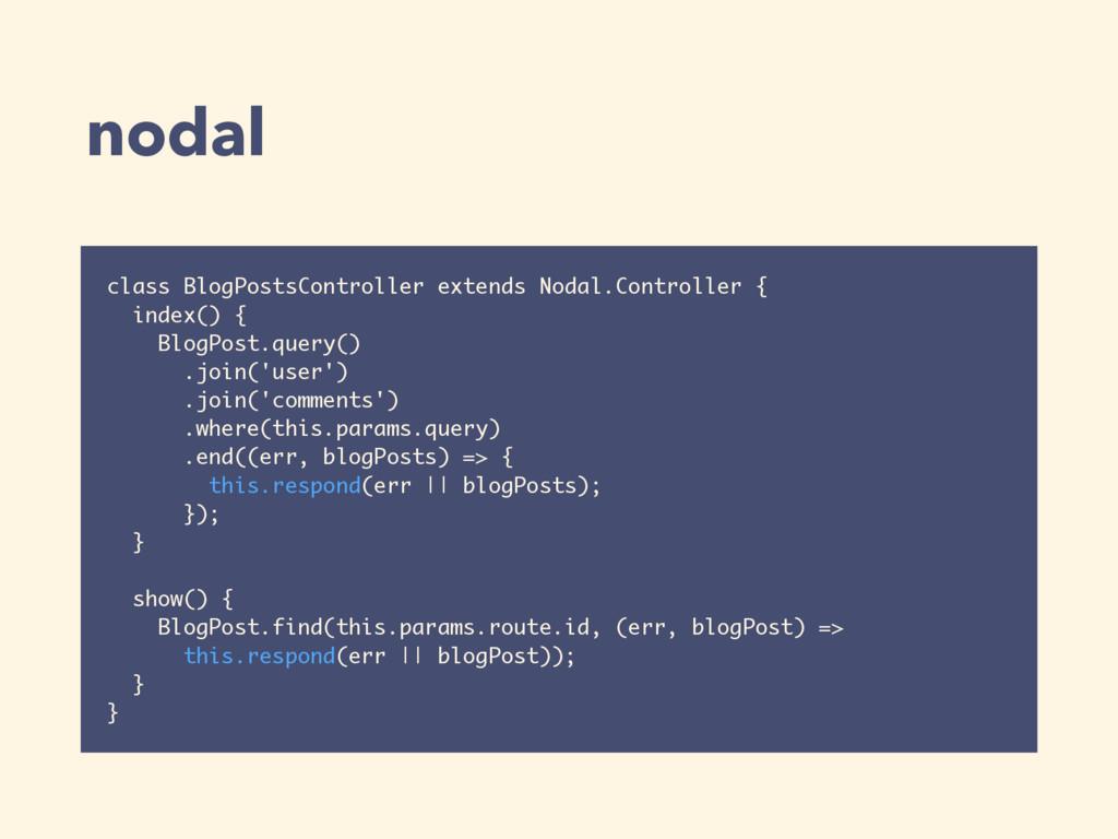 nodal class BlogPostsController extends Nodal.C...