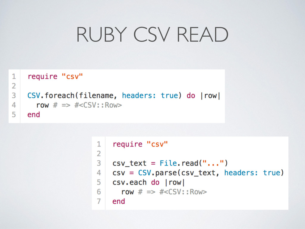 RUBY CSV READ