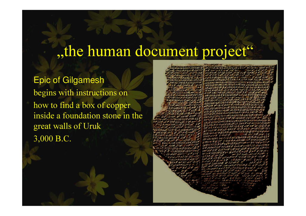 """the human document project"" p j Epic of Gilgam..."