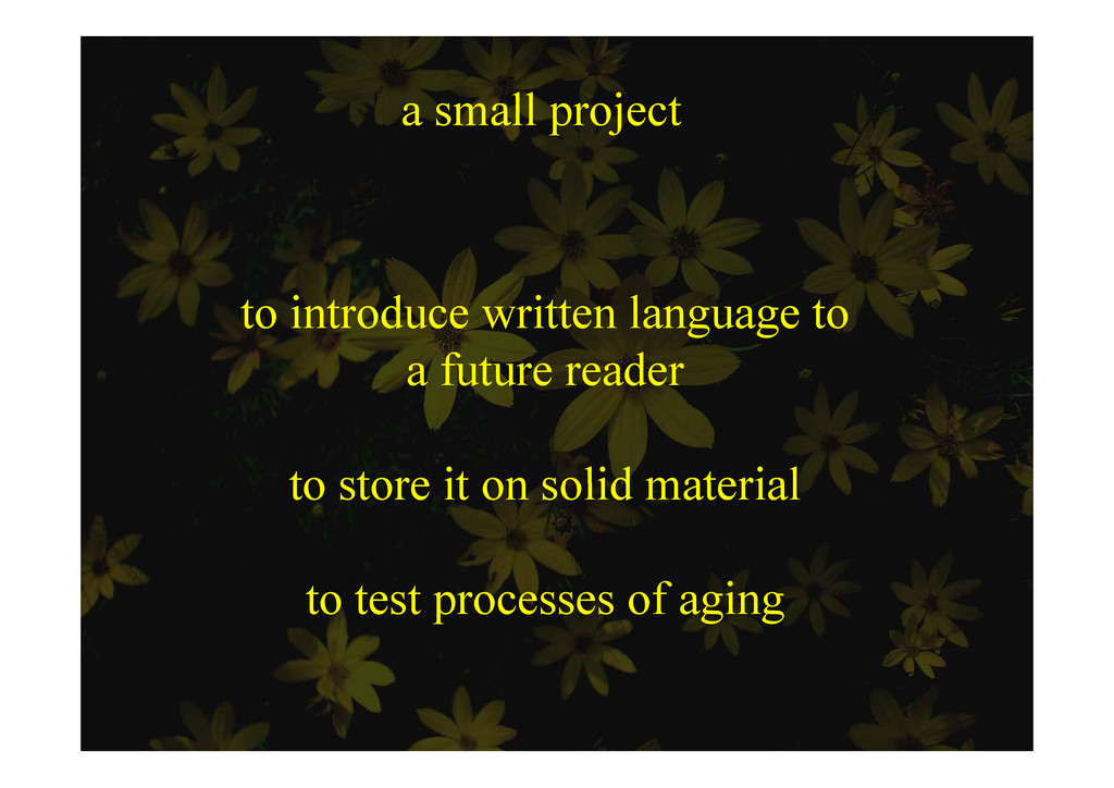 a small project s p ojec t i t d itt l t to int...
