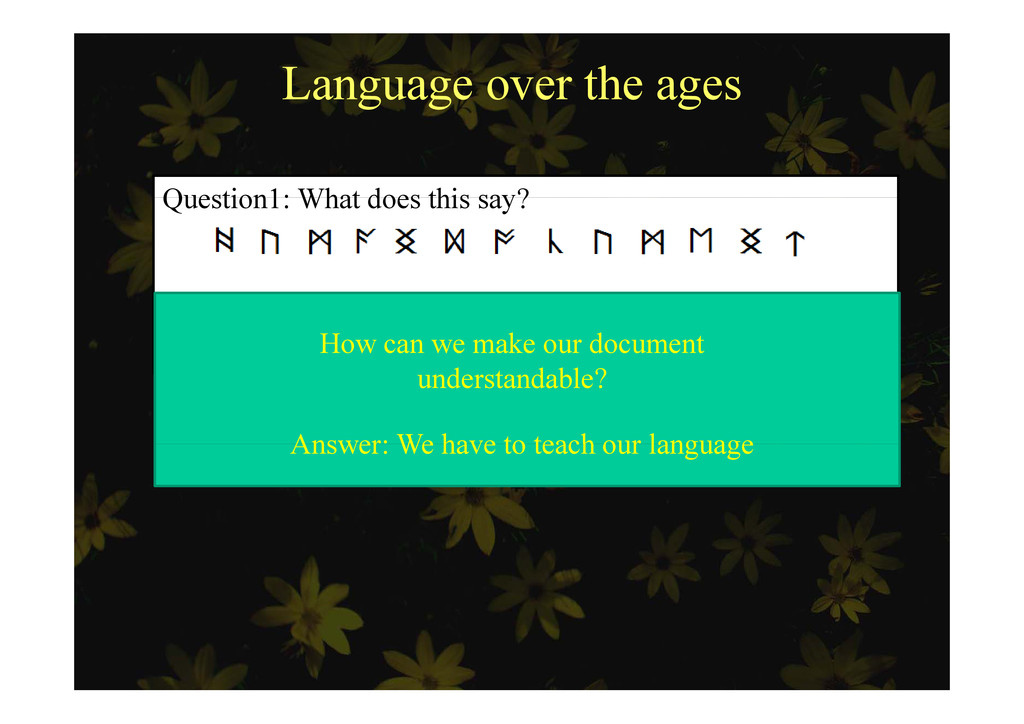 Language over the ages Question1: What does thi...