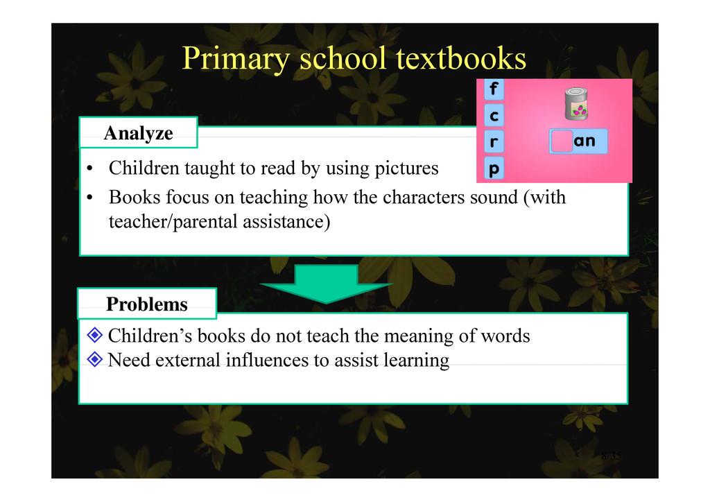 Primary school textbooks Analyze • Children tau...