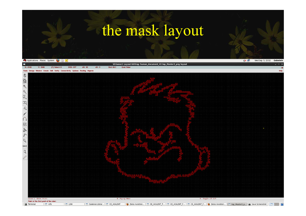 the mask layout the mask layout