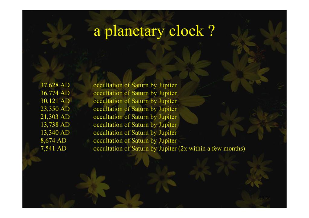 a planetary clock ? a planetary clock ? 37 628 ...
