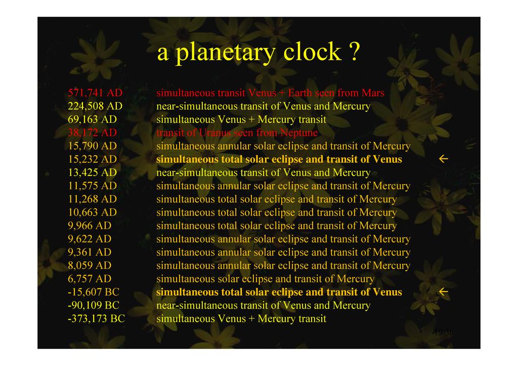 a planetary clock ? a planetary clock ? 571,741...