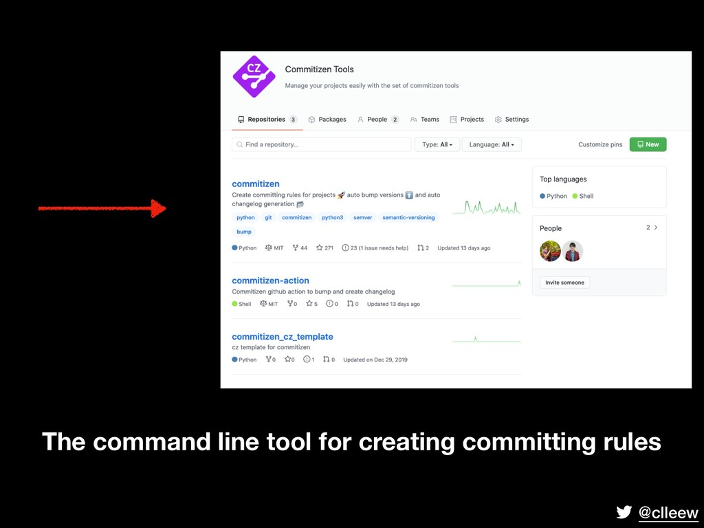 @clleew The command line tool for creating comm...
