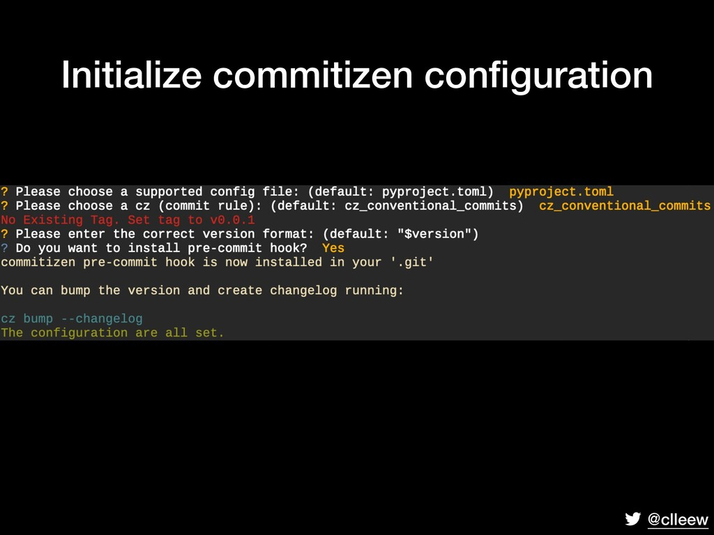 @clleew Initialize commitizen configuration