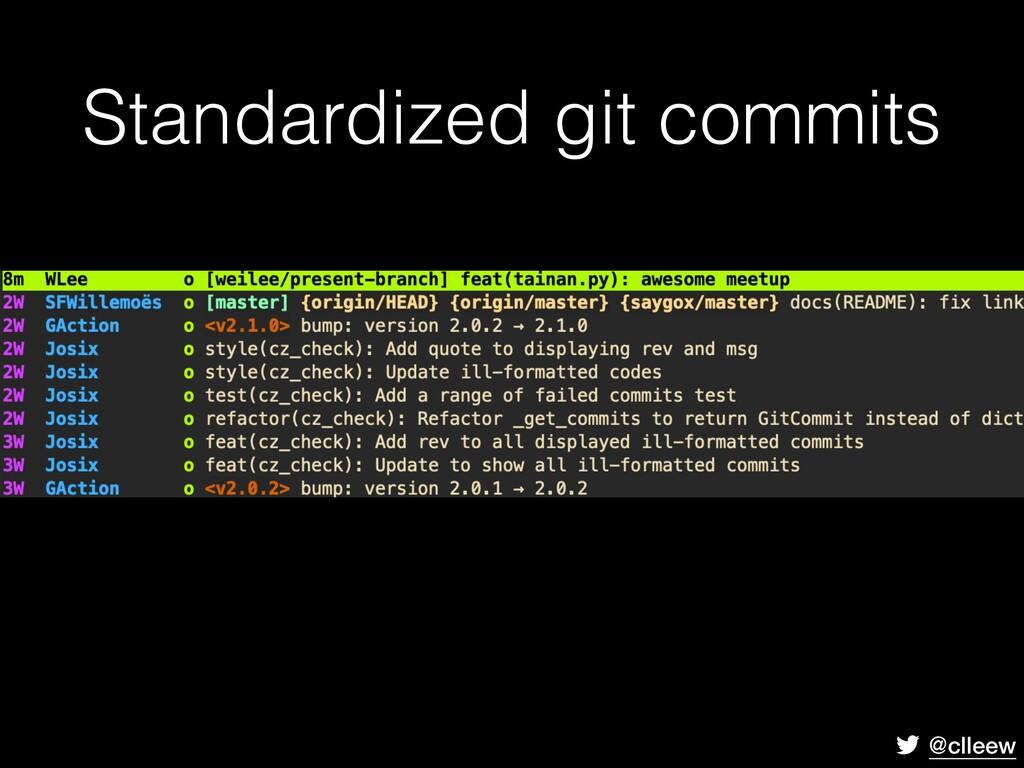 @clleew Standardized git commits