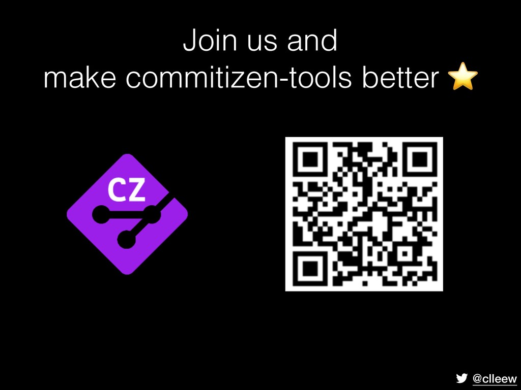 @clleew Join us and make commitizen-tools bette...