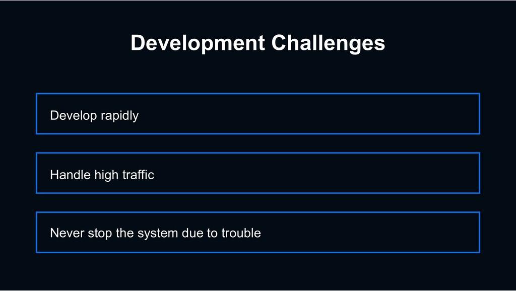 Development Challenges Develop rapidly Handle h...