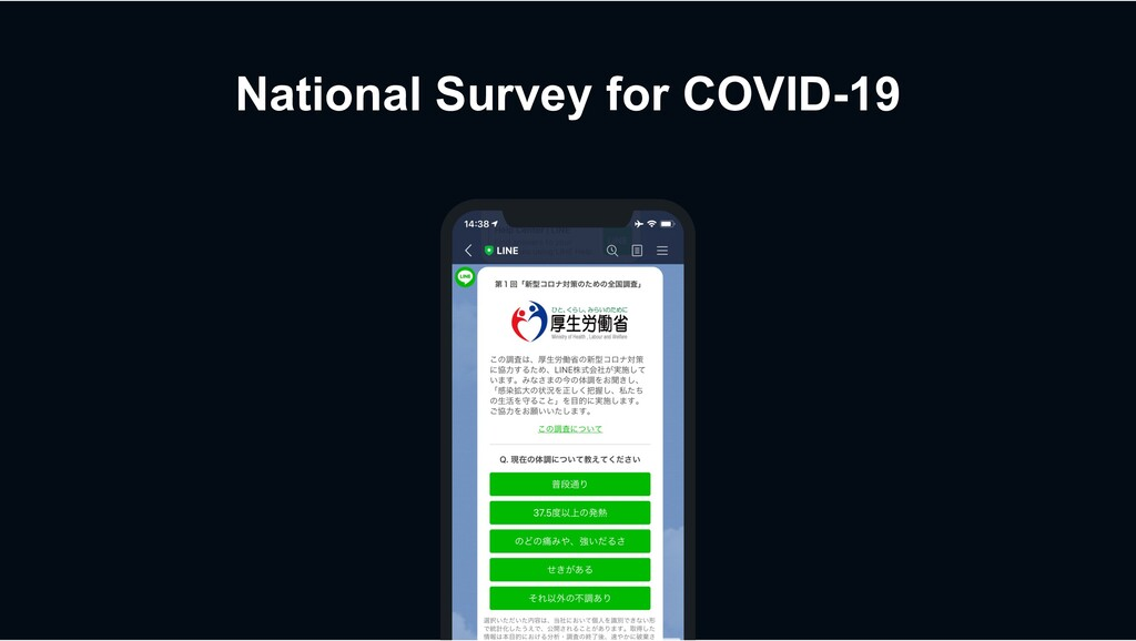National Survey for COVID-19