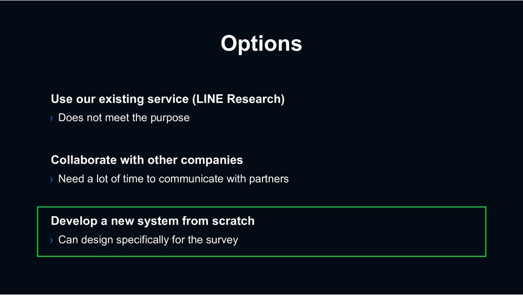 Options › Need a lot of time to communicate wit...
