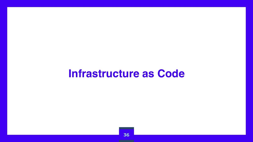 Infrastructure as Code 36