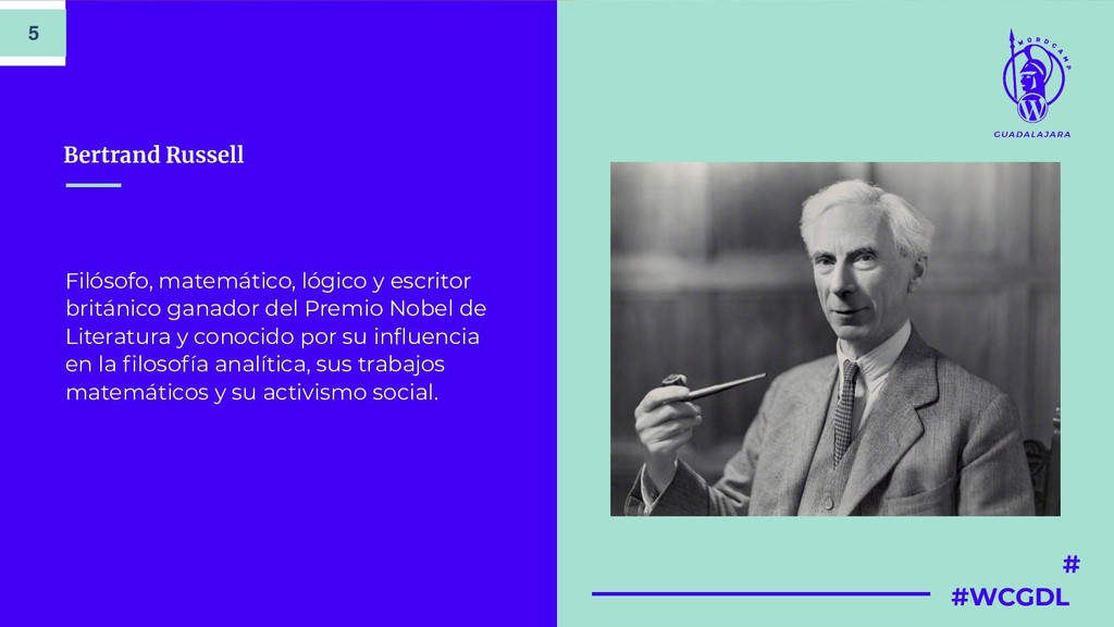 # #WCGDL Bertrand Russell Filósofo, matemático,...