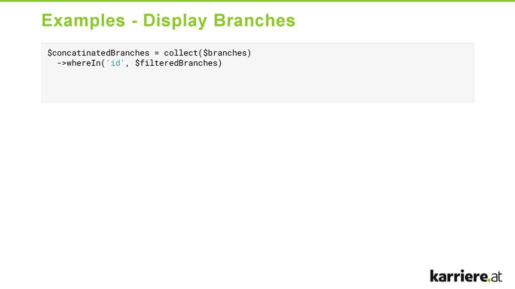 Examples  Display Branches $concatinatedBranch...