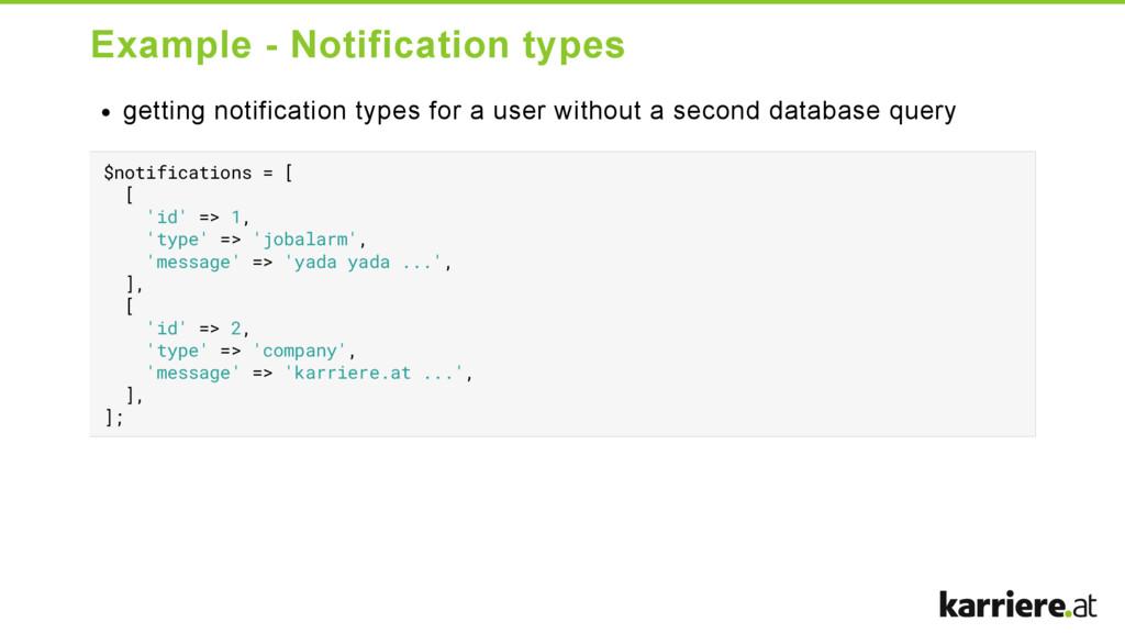 Example  Notification types getting notificati...