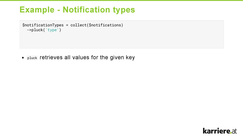 Example  Notification types $notificationTypes...