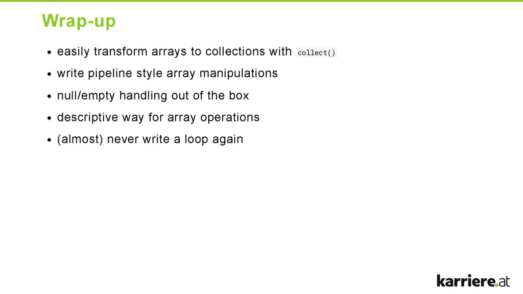 Wrapup easily transform arrays to collections ...