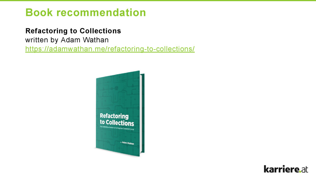 Book recommendation Refactoring to Collections ...