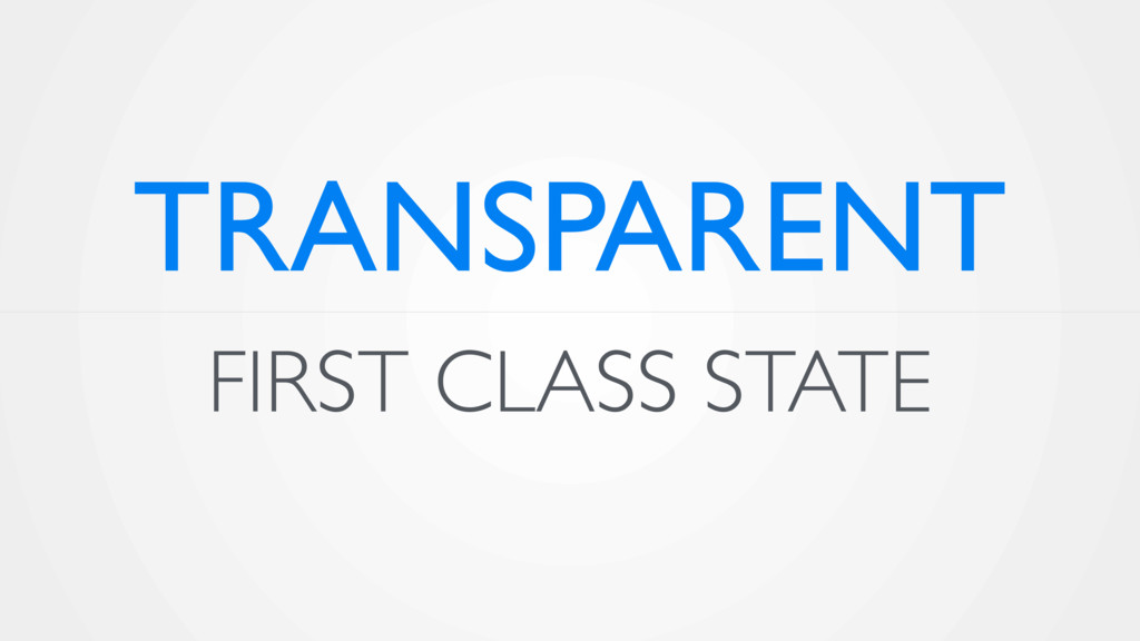 FIRST CLASS STATE TRANSPARENT