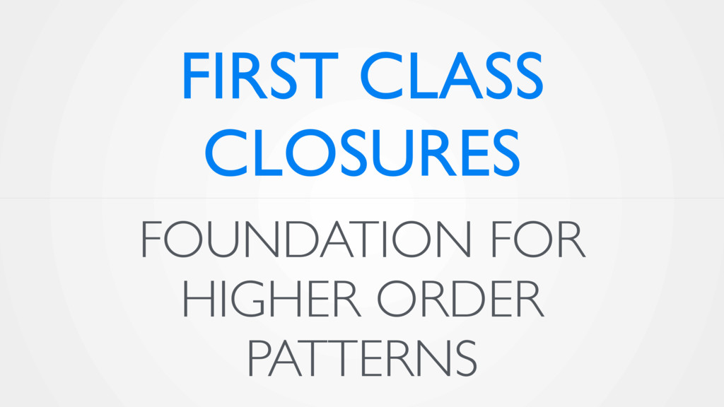 FOUNDATION FOR HIGHER ORDER PATTERNS FIRST CLAS...