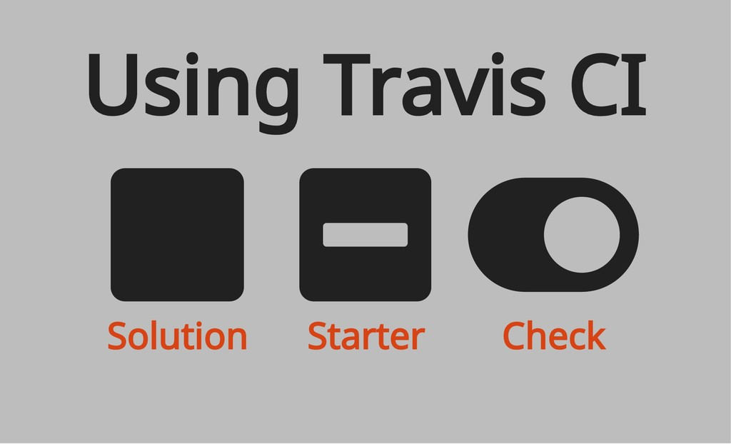 Solution Starter Check Using Travis CI