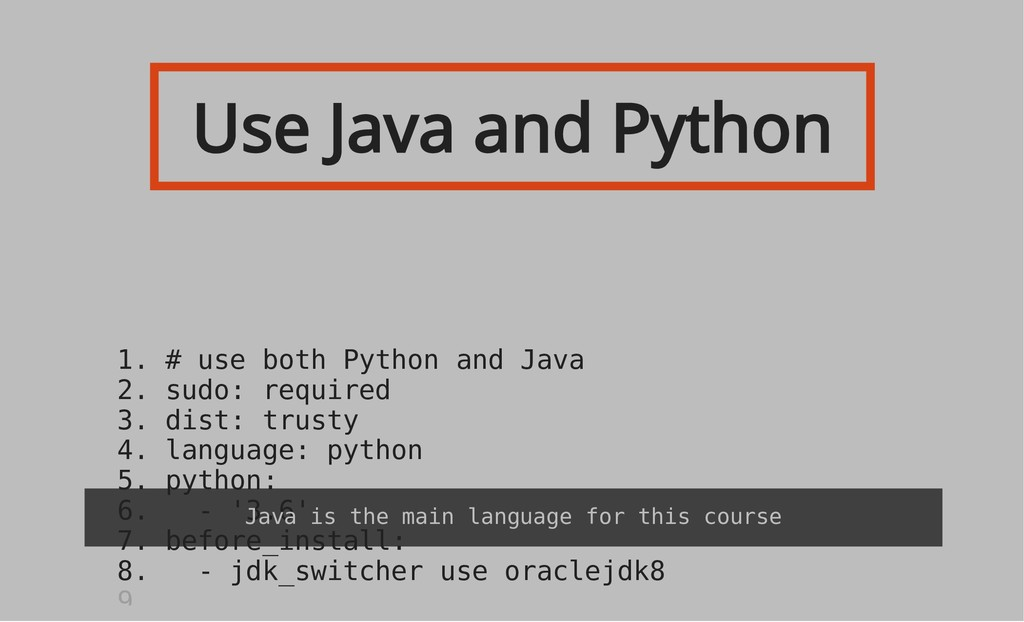 Use Java and Python 1. # use both Python and Ja...
