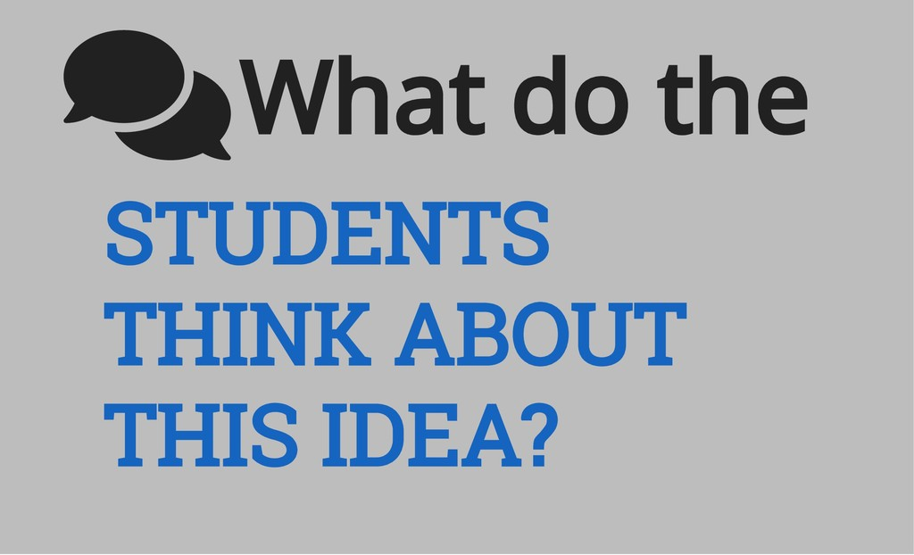 STUDENTS THINK ABOUT THIS IDEA? What do the