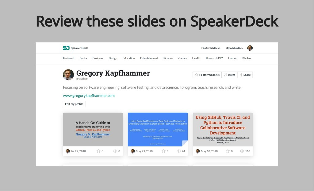 Review these slides on SpeakerDeck