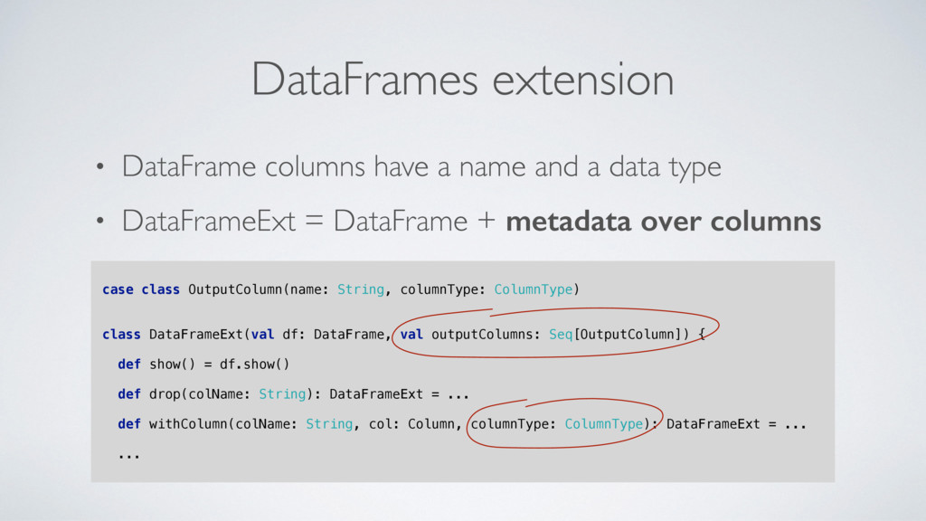 • DataFrame columns have a name and a data type...