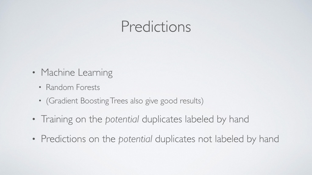 Predictions • Machine Learning • Random Forests...