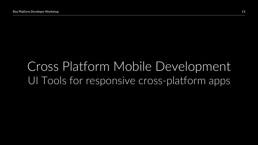 13 Box Platform Developer Workshop Cross Platfo...