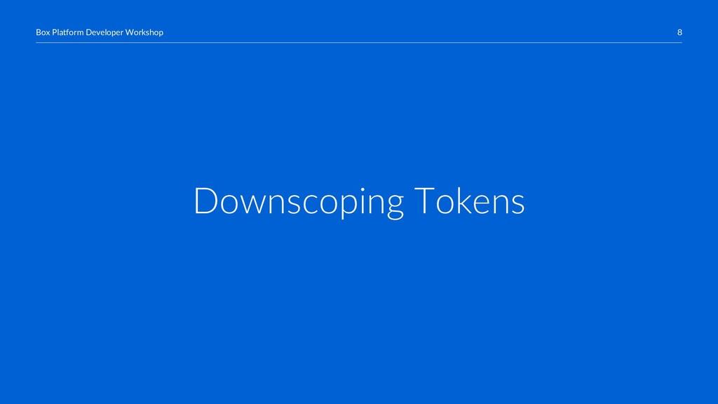 8 Box Platform Developer Workshop Downscoping T...