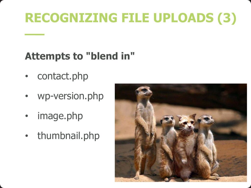 """RECOGNIZING FILE UPLOADS (3) Attempts to """"blend..."""