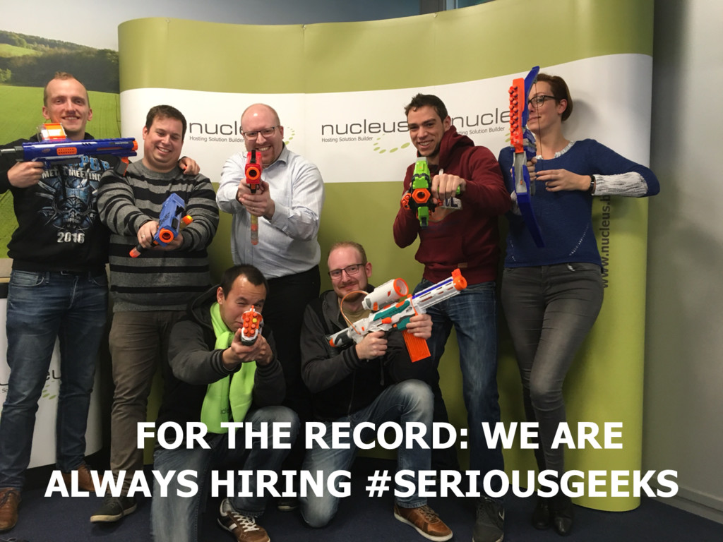 FOR THE RECORD: WE ARE ALWAYS HIRING #SERIOUSGE...