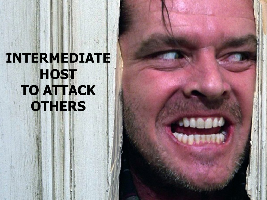 INTERMEDIATE HOST TO ATTACK OTHERS