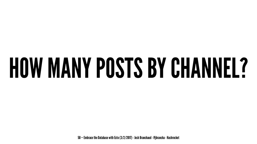 HOW MANY POSTS BY CHANNEL? 50 — Embrace the Dat...