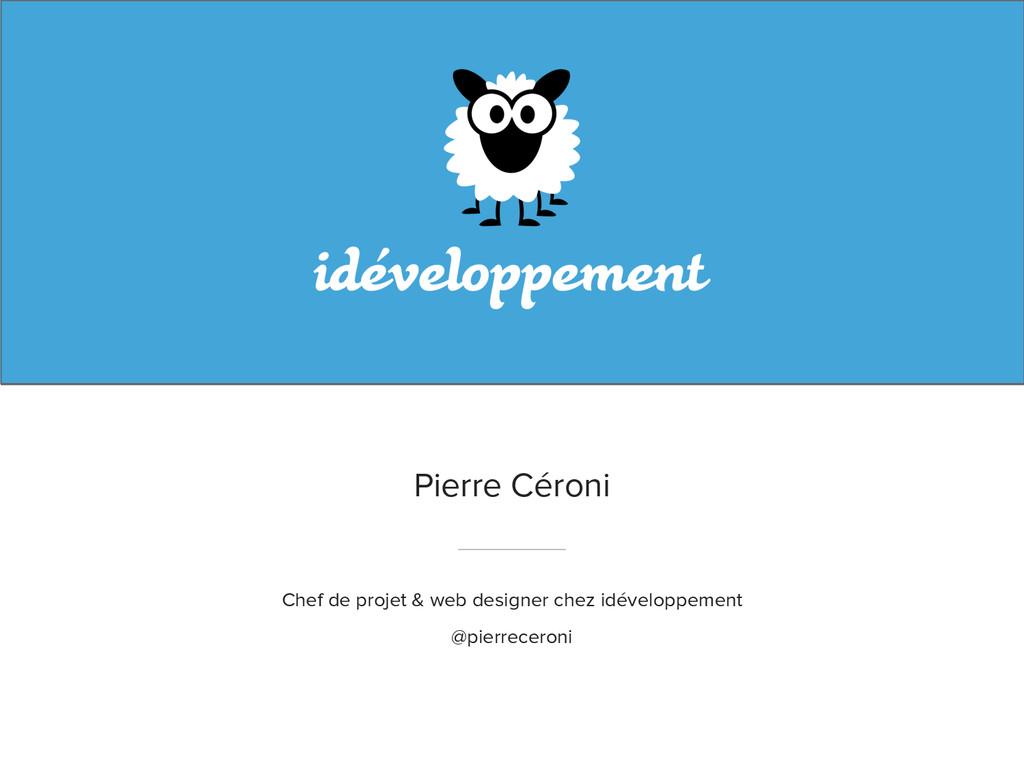 Pierre Céroni Chef de projet & web designer che...