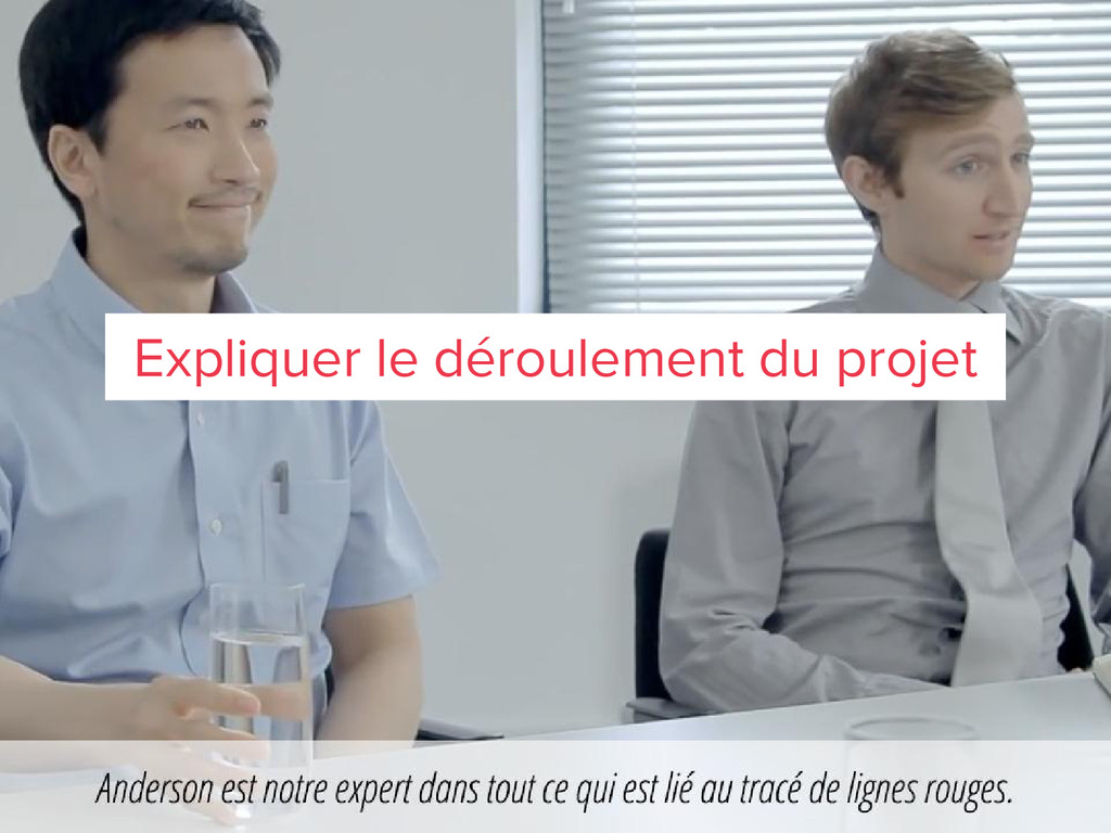 Expliquer le déroulement du projet