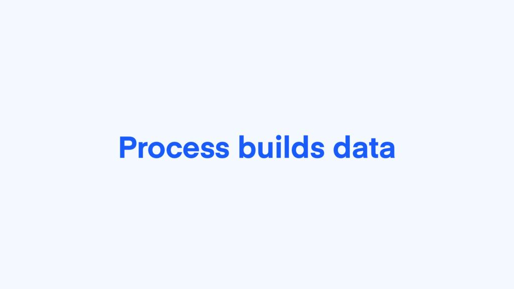 Process builds data