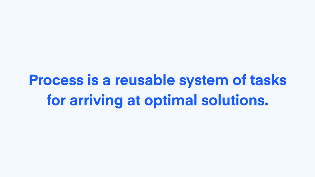 Process is a reusable system of tasks for arriv...