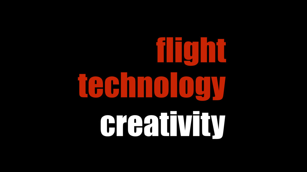 creativity technology flight