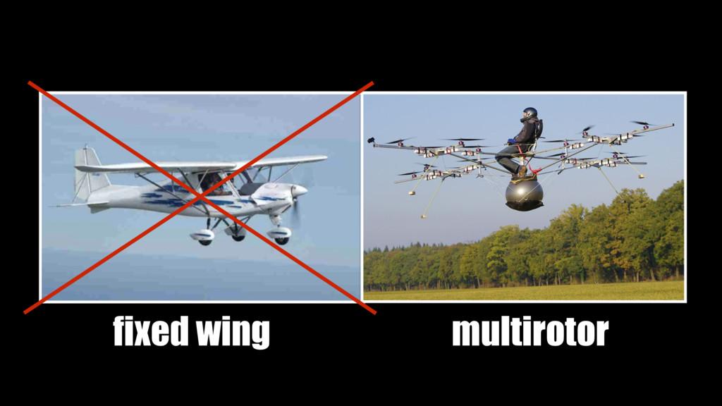 fixed wing multirotor